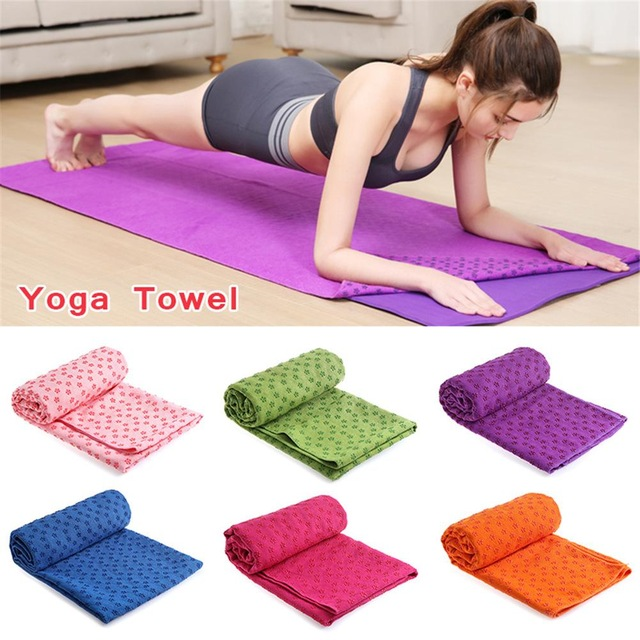 Non Slip Yoga Mat Cover Towel Anti Skid Microfiber Yoga