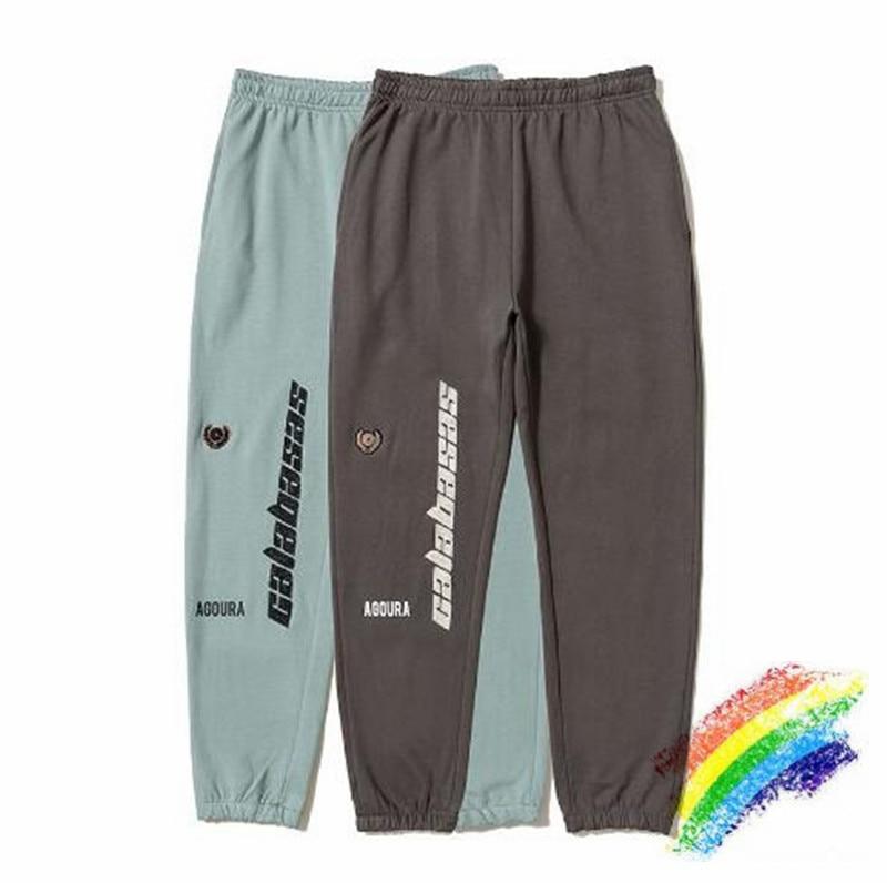 Kanye West Calabasas Season 5 Sweatpants Casual Drawstring Joggers Season 5 Sweatpants Embroidery Season 5 Pants