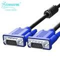Samzhe 1080 p vga cable 1.5 m 3 m 5 m 10 m 15 m 20 m 30 m 3 + 6 pin vga macho a macho cable para hdtv pantalla multimedia