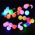 Luz de vacaciones 5 M 50 led Globo Bola Del Partido de cuerda lámparas Del Adorno led Luces de hadas de la boda de Navidad jardín colgante garland