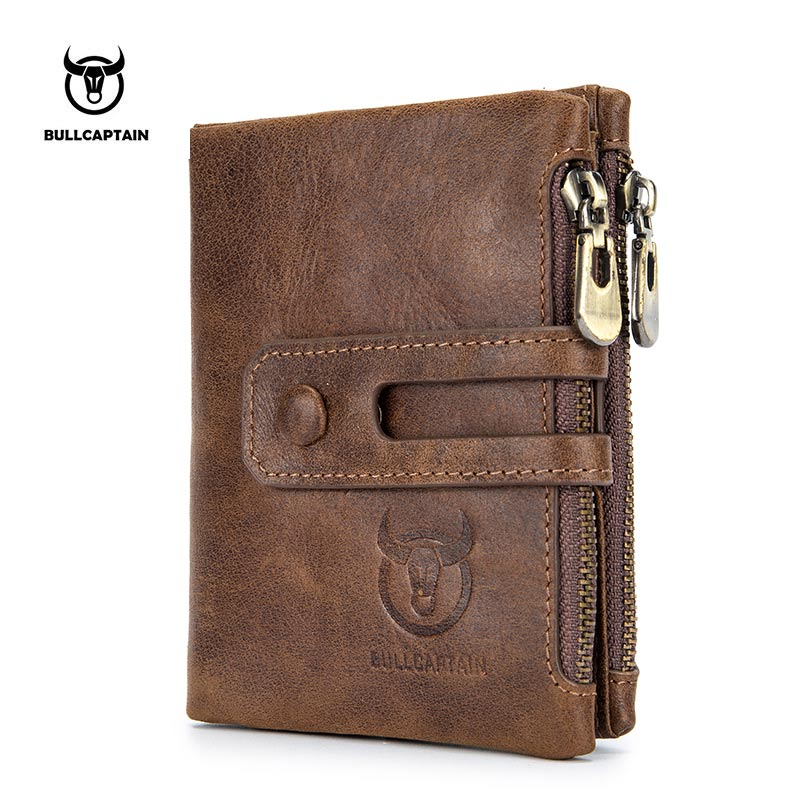 a40fed2016 US $18.2 49% OFF|Bullcaptain Wallet Men Purse RFID Antimagnetic Vintage  Genuine Leather 14 Card Slots Coin Bag High Quality Male Card ID Holder-in  ...