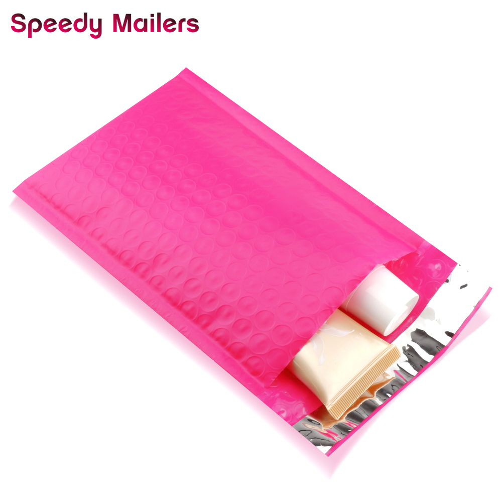 Speedy Mailers 10pcs/4x7-Inch/120*180mm Poly Bubble Mailer Pink Self Seal Padded Envelopes/Mailing Bags/Colorful Mailers