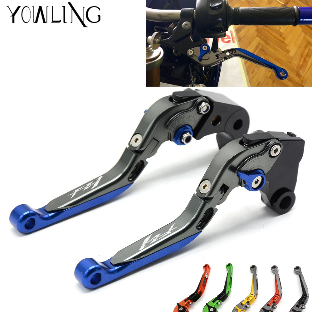 For YAMAHA FZ1 FAZER FZ-1 FAZER 2006-2013 Motorcycle Accessories Handlebar CNC Folding Extendable Brake Clutch Levers with LOGO motorcycle adjustable cnc aluminum brakes clutch levers set motorbike brake for yamaha fz1 fazer 2006 2013 xj6 diversion 09 15