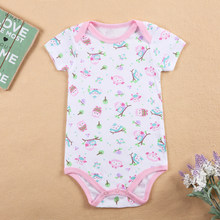 Hot Sale Leopard Short Sleeves Baby Romper 10 Styles Available Baby Clothing Menina Newborn Girls boys Baby Costume(China)