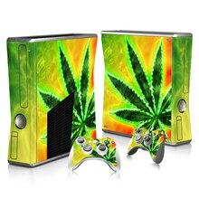 Transporte Da Gota livre Jogo Protector Vinyl Etiqueta para Xbox Microsoft 360 slim e 2 controlador peles etiqueta para xbox Gamepad 360