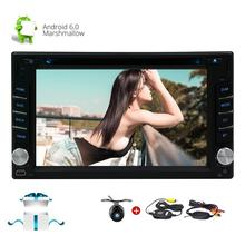 Wireless Rear Camera+Android 6.0 Car Stereo 6.2″ Double Din Car DVD Player In Dash GPS Navigation Car Radio Bluetooth/WiFi/OBD2