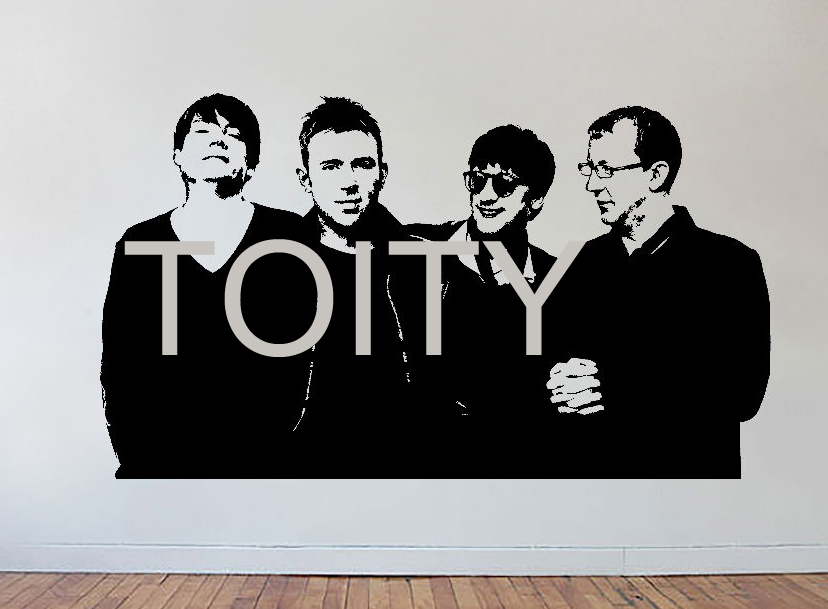Blur Wall Decal Music Songs Vinyl Sticker Dorm Studio Bar Teen Room Home Decor English R ...