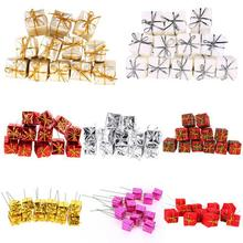 Hot Koop 12PCS Mini Gift Box Kerstboom Decoratie Ornamenten Nieuwe Jaar Decoraties Opknoping Ornamenten(China)