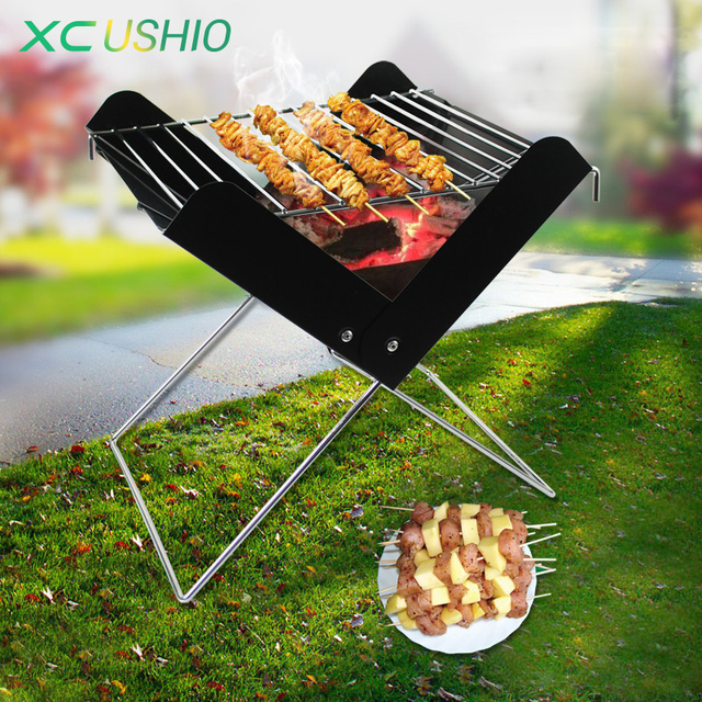 Folding Outdoor Camping Hiking Stove Set 3 4 Cooking Survival Equipment Multi Fuel Bbq