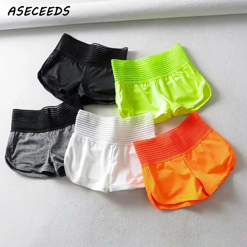 2019 Chic Neon Green Shorts Women High Waist Shorts Sweatpants  Punk Biker Shorts Streetwear Summer Female Casual Black Shorts