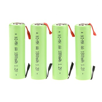 New arrival 20 PCS a set Ni-MH 1.2V AA 1800mAh Rechargeable Battery for Electric Shaver Razor 4.9*1.4CM