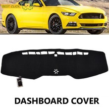Fit For Ford Mustang GT 2015 2016 2017 2018 Dashboard Cover Dashmat Dash Mat Pad Sun Shade Dash Board Cover Carpet(China)