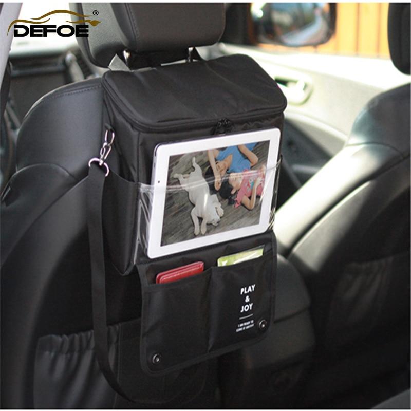 Kahesuguse kasutusega autoistmete hoidmise kott Rippuvad kotid autoistme seljakott Autotooted Multifunktsionaalsed sõiduvarustus kotid tasuta