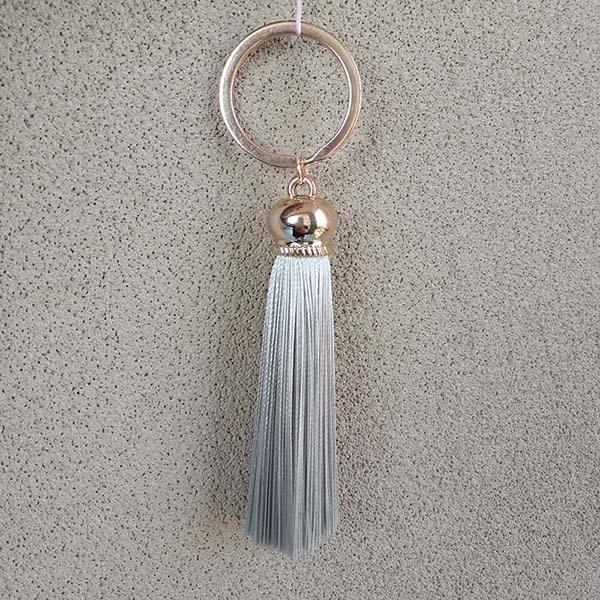 Фото новое модное женское кольцо для ключей с бахромой #16022