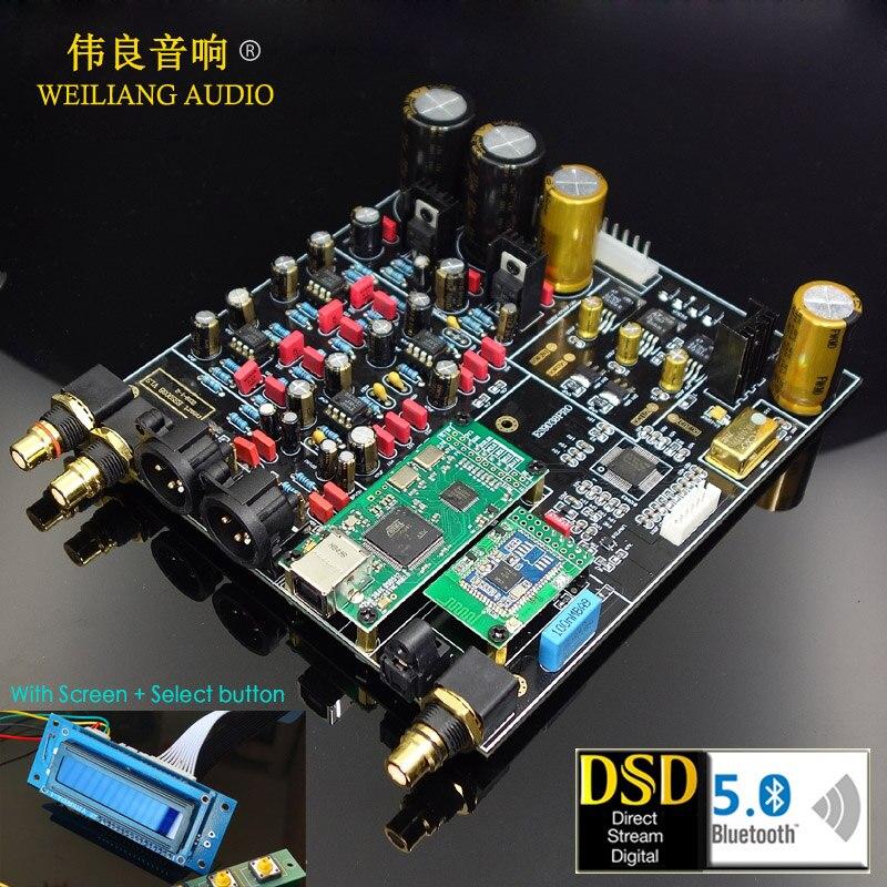 2019 ¡Nuevo! HIFI ES9018/ES9028PRO/ES9038PRO + XMOS XU208/Amanero USB decodificador CAD Junta apoyo agregar Bluetooth 5,0-in Conversor de digital a analógico from Productos electrónicos    1