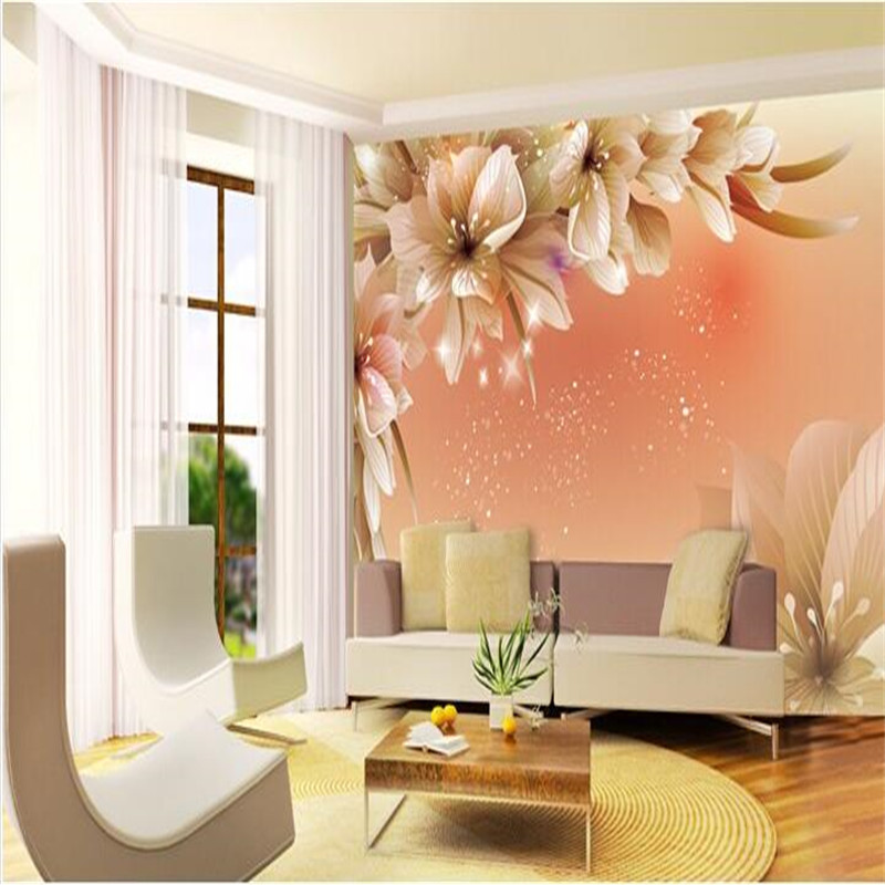 Custom photo wall paper large mural 3d cozy bedroom modern for Minimalist living bedroom