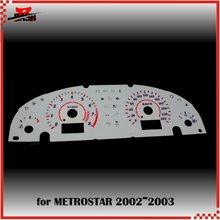 DASH EL свечение Калибр для Mondeo Mk3 Metrostar 2002 2003 обратное свечение белого лица синий зеленый Освещение 240 км 8000 об/мин