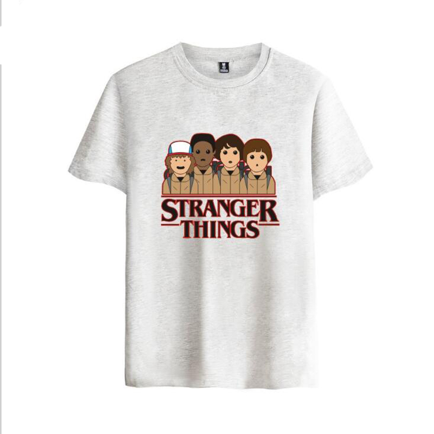 Stranger Things 2 Funny Cartoon T Shirt Men Summer Tops Homme Hip Hop Cotton Tshirt Casual Short Sleeve Tees Hipster Clothing