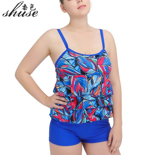 2xl 8xl two pieces suits plus size swimsuits female swimming