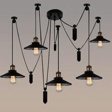5 6 legs Novelty spider lamp Bar Loft Retro Industrial light American Style pulley Lift pendant