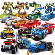 Technic City Super Racers Series Speed Champions compatible Legoed car Blocks Racing Building models children Kids toys gift set(China)