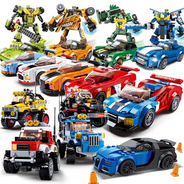 Technic City Super Racers Series Speed Champions compatible Legoed car Blocks Racing Building models children Kids toys gift set