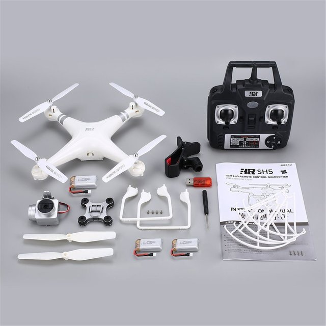 SH5H 2.4G FPV Drone RC Quadcopter with 3 Batteries 1080P Wide Angle Wifi HD Camera Live Video Altitude Hold Headless Mode HOT!