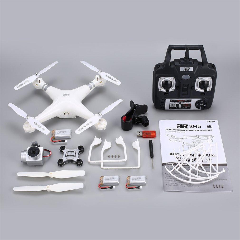 SH5H 2.4g FPV Drone RC Quadcopter avec 3 Batteries 1080 p Grand Angle Wifi HD Caméra Vidéo En Direct Altitude tenir Sans Tête Mode CHAUDE!