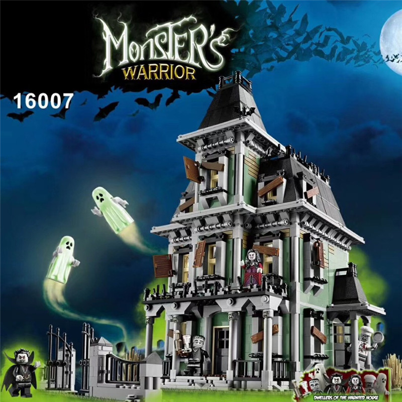16007 2141Pcs Monster fighter The haunted house Model set Building Kits Model Compatible With 10228 2141pcs monster fighters haunted house vampyre castle 16007 model building blocks children gifts sets movie compatible with lego