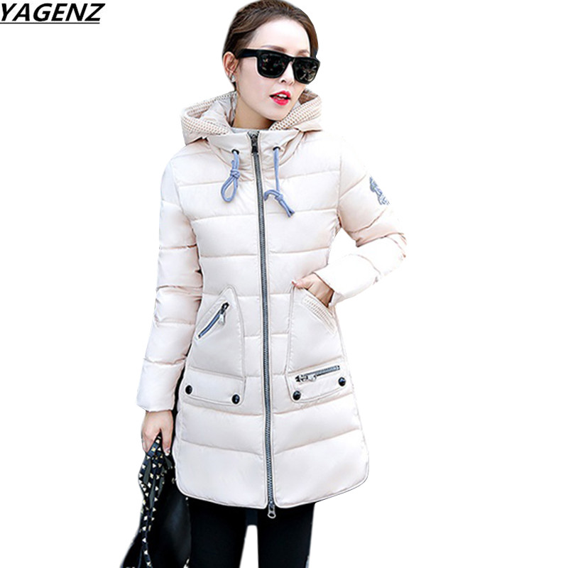 2017 Winter Women Hooded Coat Thicken Warm Long Jacket Girls Slim Plus size 7XL Women Jacket Coat Down Cotton Parka YAGENZ K703 swarovski octea nova 5295349