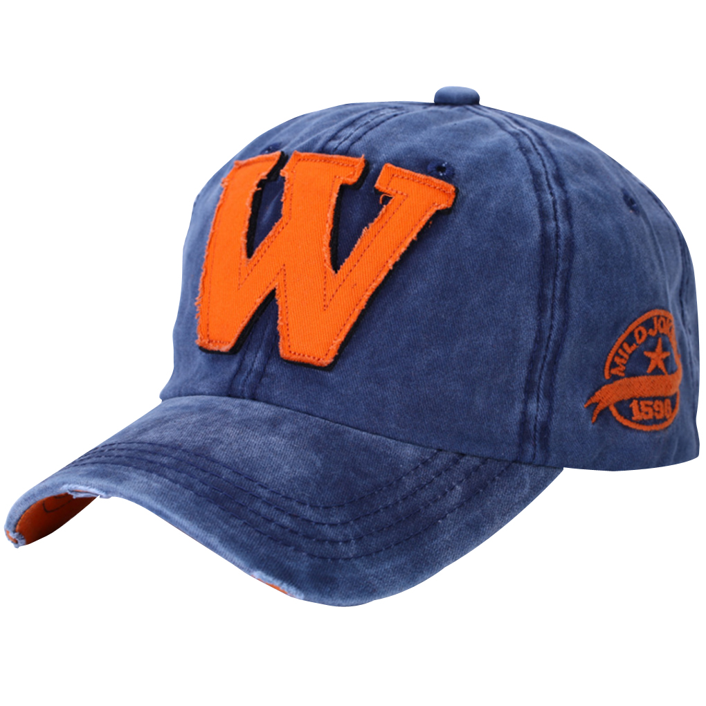 new wash do letter w printed baseball cap summer cool