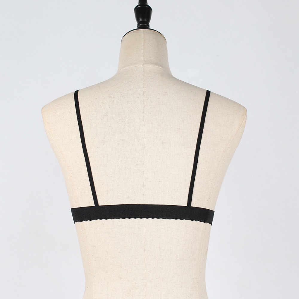 Mới Sexy Viền Ren Co Áo Bralette Áo Ngực Quần Lót Dây Chéo Đẩy Lên TOP Quần Lót Xe Tăng Nữ Crop Tops roupas Feminina S !!! #65