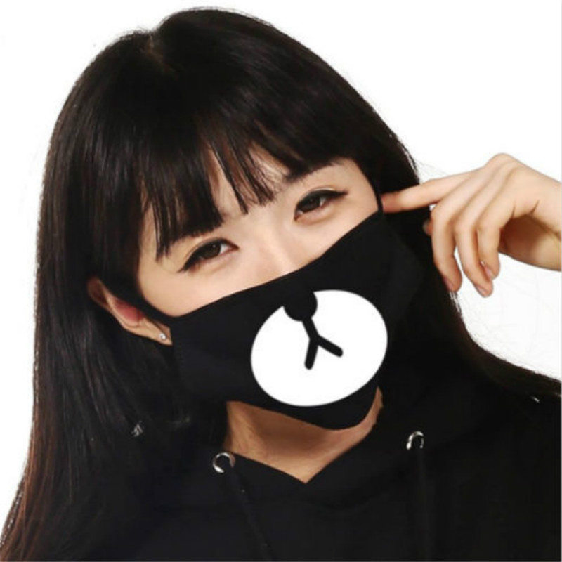 Party Masks Fashion Cute Unisex Anti-Dust Cartoon Panda Mask Face Bape Bear Mask 1PC Стол