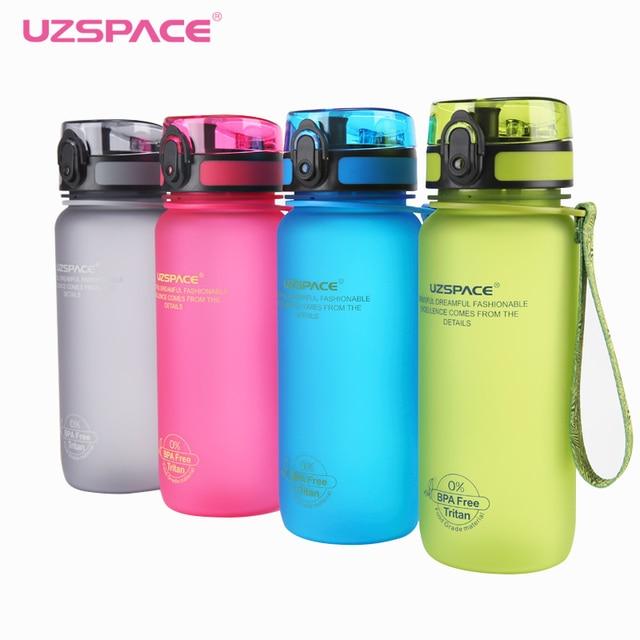 UZSPACE 650ml Outdoor Sport School Leak Proof Seal Water bottles Plastic  Tritan Drinkware BPA Free Sports Handy Bottle for water-in Water Bottles  from