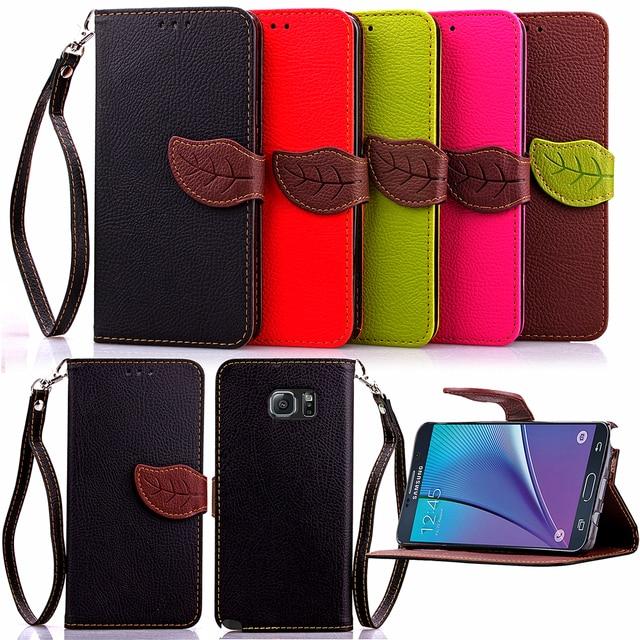 Leaf Case for Samsung Galaxy Note 5 Note5 N920 N9200 N920s Flip Case Phone Leather Cover for SM-N920 SM-N9200 SM-N920s SM-N920t