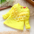 Free shipping Retail new 2013 spring autumn baby clothing kids long sleeve T-shirt top all-match shirts baby girl outerwear