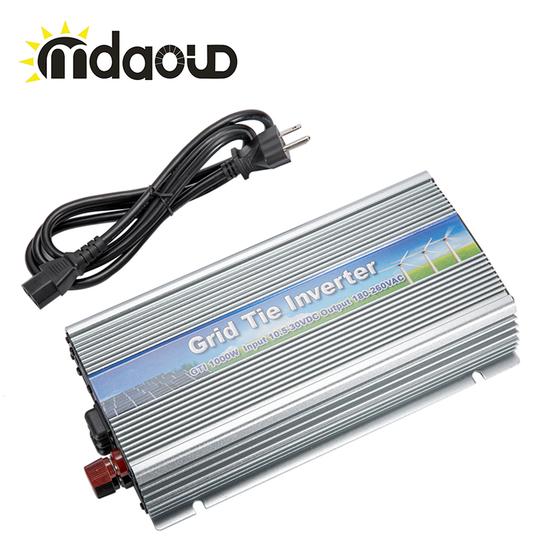 1000W  90-140VAC/180-260VAC Grid tie inverter maylar 22 60vdc 300w dc to ac solar grid tie power inverter output 90 260vac 50hz 60hz