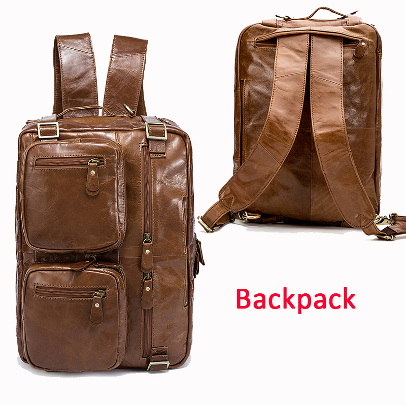 WESTAL Men Briefcases Men's Bags Genuine Leather Office Bags for Men Laptop Bags Briefcase Male Totes Document/Computer Bag 341