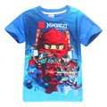 2017 Summer Children's clothes Baby boys girls T-shirt Legoe Ninja Ninjago cartoon Cotton T-shirts tops red blue T shirts 3-8y