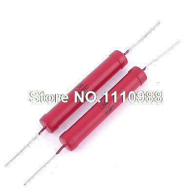 Tolerance 1% 5W 1G Ohm High Voltage Resistor Red 500m ohm axial leaded high voltage glass glaze resistor 5w watt