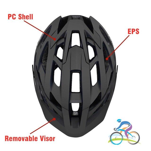 Фото велосипедный шлем с солнцезащитным козырьком для мужчин и женщин