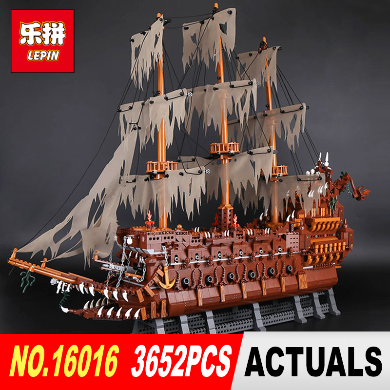 Lepin 16016 3652Pcs Movie Series MOC flying dutchman the Netherlands Building Blocks Bricks Education toy to Holiday Toys lepin 16016 3652pcs movie series flying the dutch blocks bricks toys for children compatible legoing pirates caribbean