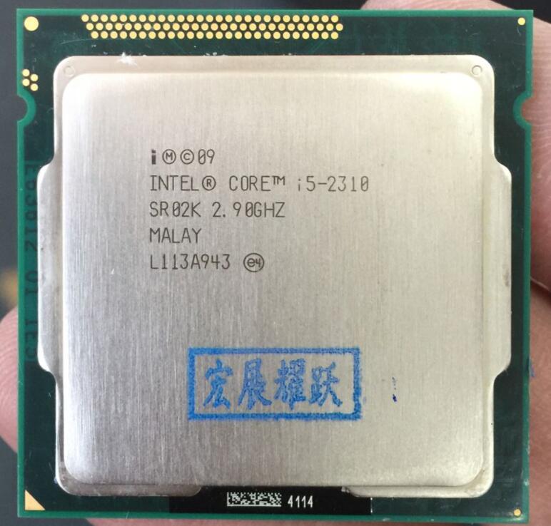 Процессор Intel ядро i5-2310 Процессор (6 м Кэш, 2.9 ГГц) разъем LGA1155 для процессора настольного компьютера