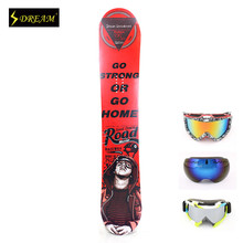 153CM Universal All Mountain Customized Snowboards For Adult Male & Female Freestyle Carbon Fiber P-Tex Base Free ski goggles