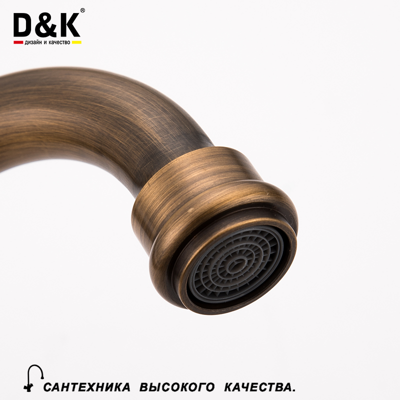 Aliexpress.com : Buy D&K Kitchen Faucets Mixer Bronze Single Handle ...