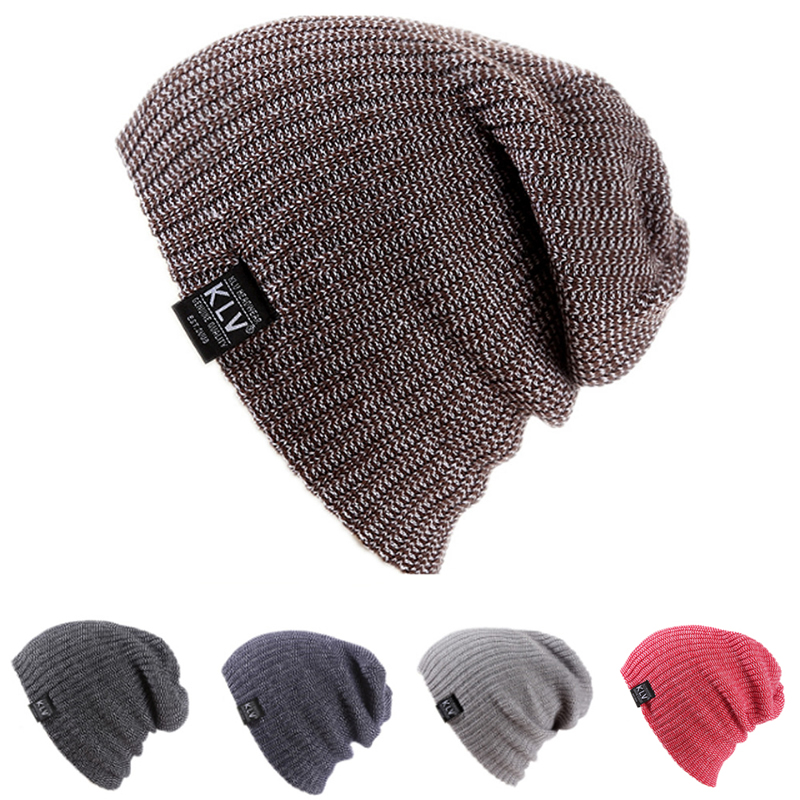 Unisex Women Men Winter Baggy Beanie Knit Crochet Oversized Hat Slouch Cap -Y107 hot sale unisex winter plicate baggy beanie knit crochet ski hat cap
