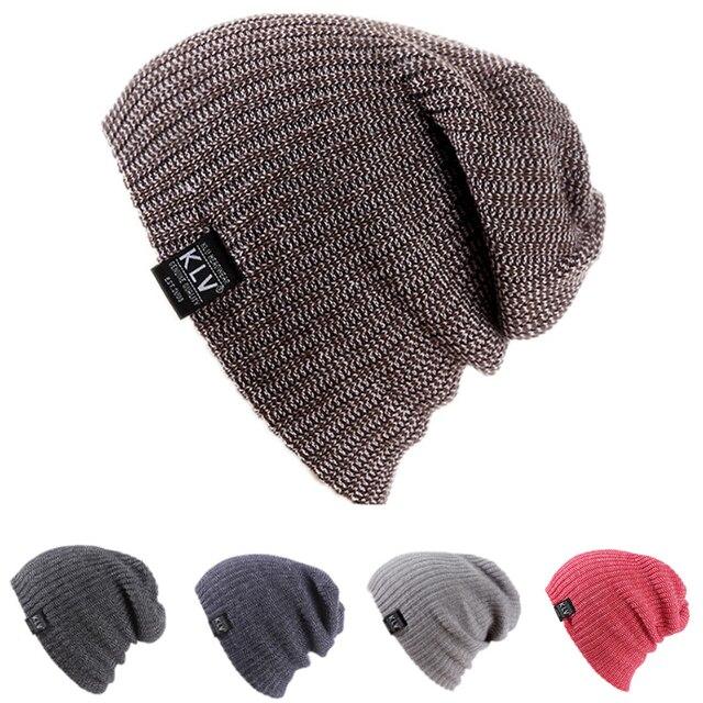 Unisex Women Men Winter Baggy Beanie Knit Crochet Oversized Hat