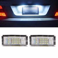 시안 토양 베이 2 개 화이트 18 LED 오류 무료 SMD 번호판 빛 BMW E46 4D 5D 세단 1998-2005