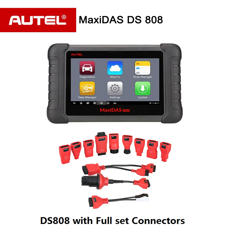 Autel Maxidas DS808 OBD2 Diagnostic Tool Upgrad of DS708 with Full set OBDI Adapters automotive Scanner Same Function as MS906