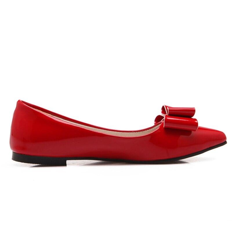 Appartements rouge Bowtie Doux Chaussures Automne Pour Femme Extra Beige Printemps 49 Confortable Karinluna noir Pointu Semelle Taille 30 Bout ZCXUq